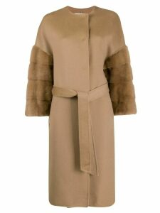 Ava Adore Bilbao belted coat - Brown