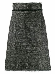 Dolce & Gabbana A-line tweed midi skirt - Black