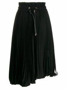 Sacai pleated asymmetric skirt - Black