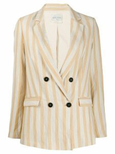 Forte Forte boxy striped blazer - Yellow