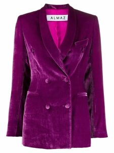 Almaz double breasted blazer - Purple