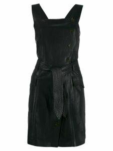 Nanushka belted wrap dress - Black