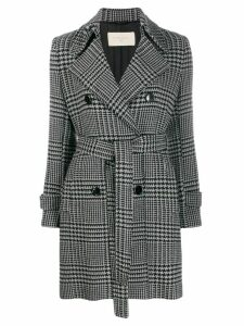 Circolo 1901 houndstooth double-breasted coat - Black