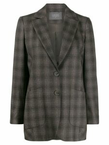 Lorena Antoniazzi fitted plaid blazer - Grey