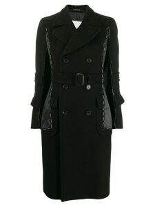 Maison Margiela stitched double breasted coat - Black