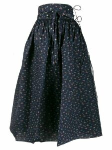 Horror Vacui Goldilocks floral print skirt - Blue