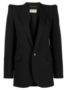 Saint Laurent dramatic shoulders blazer - Black