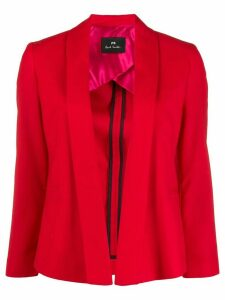 PS Paul Smith open front cropped blazer - Red