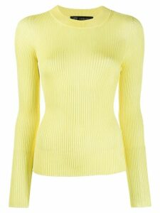 Versace knitted Medusa top - Yellow