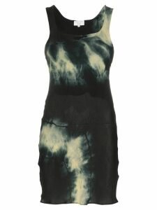 Collina Strada tie-dyed mini dress - Black