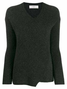 Pringle of Scotland travelling rib v-neck jumper - Grey