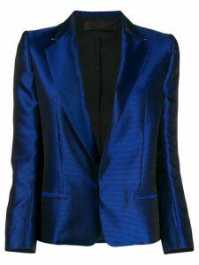 Haider Ackermann high shine jacquard blazer - Blue
