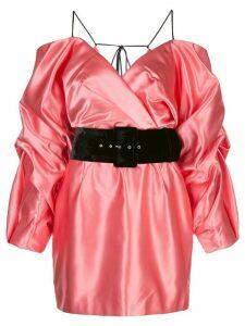 Rasario Cold-Shoulder belted dress - PINK