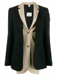 Burberry layered effect blazer - Black
