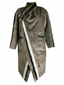 Urbancode reversible striped coat - Grey