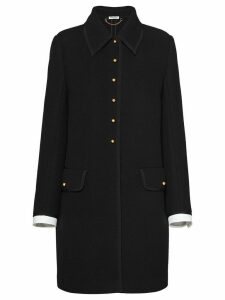 Miu Miu wool knit coat - Black
