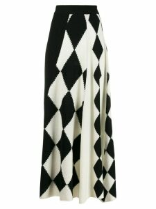Pringle of Scotland graphic argyle panel skirt - White