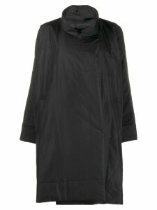 Pleats Please Issey Miyake oversized funnel-neck coat - Black