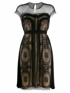 Zuhair Murad lace pleated mini dress - Black