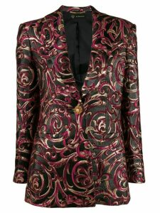 Versace Barocco jacquard embellished blazer - Black
