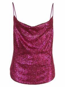 Jonathan Simkhai sequined draped-neck top - Pink