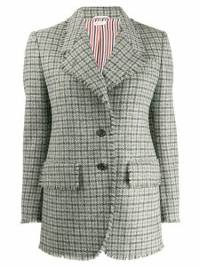 Thom Browne Gun Club Check Cashmere Sport Coat - Grey