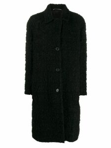 Rochas reversible single-breasted coat - Black