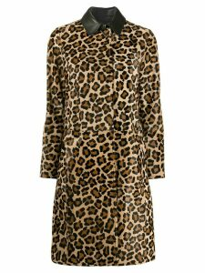 Desa 1972 leopard print trenchcoat - Brown
