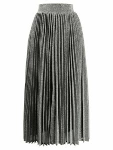 Amuse high-waisted pleated skirt - Silver
