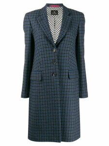 PS Paul Smith check print coat - Blue