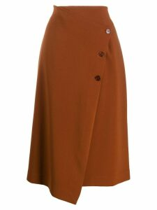 Altea asymmetric midi skirt - Brown