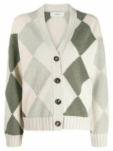 Pringle of Scotland graphic argyle cropped cardigan - Neutrals