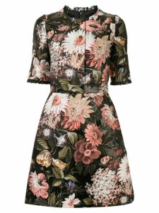 Dolce & Gabbana baroque floral-jacquard dress - Black