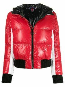 Colmar glossy-effect puffer jacket - Red