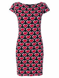 Love Moschino heart pixel dress - Black