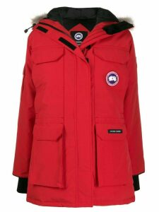 Canada Goose mid-length multi-pocket parka coat - Red