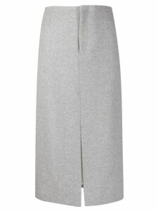 Joseph front-slit midi skirt - Grey