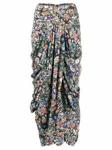 Isabel Marant printed wrap skirt - Black