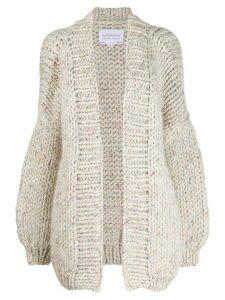 I Love Mr Mittens oversized chunky knit cardigan - White