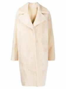 Drome oversized faux-fur coat - NEUTRALS