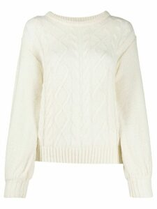 Guardaroba cable knit jumper - White