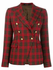 Tagliatore check-print fitted blazer - Brown