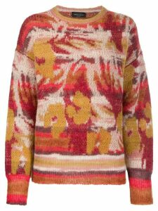 Roberto Collina embroidered long-sleeve sweater