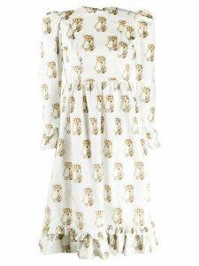 Batsheva Holly and Bobbie print midi dress - White