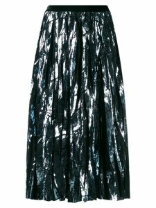 Guardaroba metallic pleated skirt - Blue