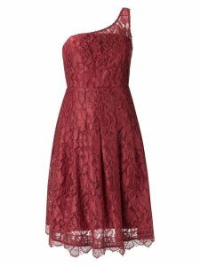 Martha Medeiros lace asymmetric dress - Red