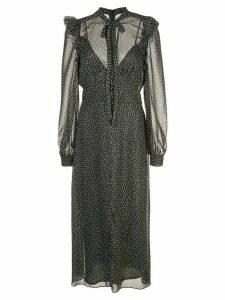 Jill Jill Stuart polka dot midi dress - Black