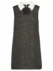 Miu Miu sequinned bouclé dress - Black