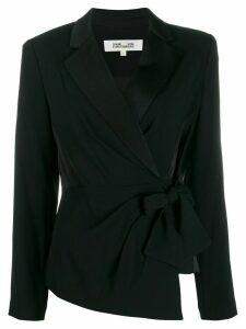 Diane von Furstenberg Lana wrap top - Black