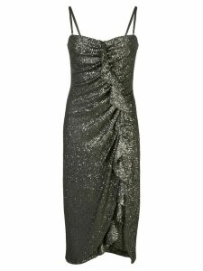 Jonathan Simkhai sequined ruffled-detail dress - Green